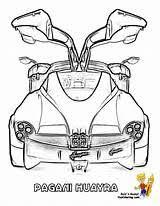 Pagani Zonda R Drawing Sketch Coloring Page