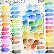 Watercolor Crayon Lesson 1 Color Charts Mary Mcandrew