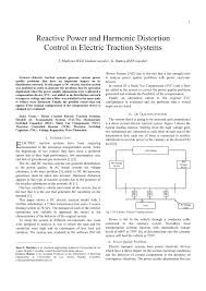 Harmonic Distortion Reactive Power And Harmonic Distortion Control In Electric