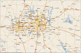 dfw metroplex map  dallas fort worth metroplex map (texas  usa)