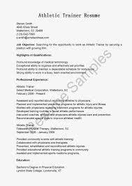 Athletic Training Resume Resume For Athletic Trainer Enderrealtyparkco 19