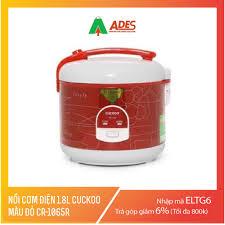 Mã ELMSCOIN hoàn tối đa 150K xu] Nồi cơm điện 1.8L CUCKOO màu đỏ CR-1065R