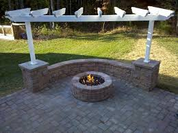 paver patio with fire pit. Delighful Fire Elegant How To Build A Fire Pit With Pavers Paver Patio Firepit  Sitting Wall And Pergola Outside To With