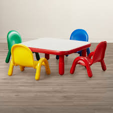 Plastic Table Chair Set Angeles Baseline Toddler Table And Chair Set Reviews Wayfair
