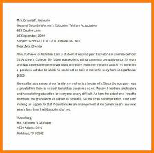 Academic Appeal Letter Amazing Examples Of Financial Aid Appeal Lettersfinancial Aid Appeal Letter