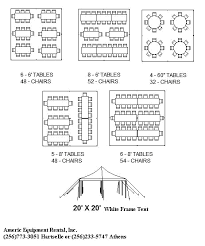 Click A Tent Size Below To View And Print Suggested Seating