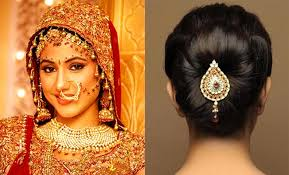 beehive hairstyle indian stani asian bridal hair style