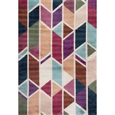 world rug gallery modern geometric design multi 8 ft x 10 ft indoor area