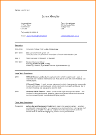 Resume Law Student 2l Beautiful Format Ofmplate School Curriculum