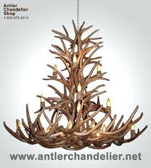 making antler chandeliers making a