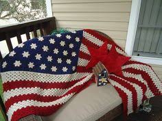 American Flag Crochet Pattern Inspiration American Flag Crochet Potholder Knitting And Crochet Pinterest