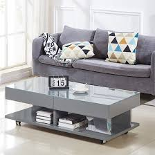 verona storage glass coffee table in