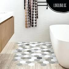 hexagon sheet vinyl hexagonal tiles pattern a decorate your bathroom floor with an adhesive of brilliant