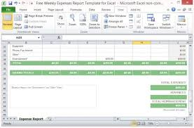 Free Weekly Expenses Report Template For Excel