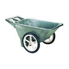 rubbermaid big wheel garden cart black