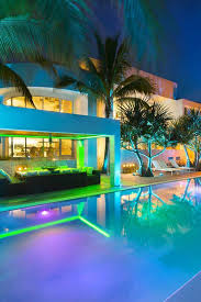 swimming pool lighting options. neon lighting does something magical to a nighttime pool setting swimming options s