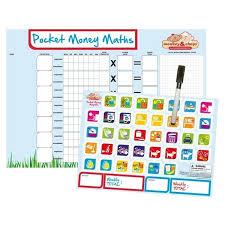 Monkey Chops Magnetic Pocket Money Maths Chart For Kids 23 85