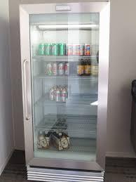 glass door refrigerator home wonderful frigidaire mercial grade fridge with glass doors a little more of