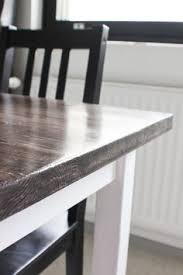 how to stain dining table