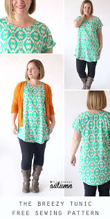Easy Sewing Patterns For Beginners Gorgeous The Breezy Tee Tunic Free Sewing Pattern It's Always Autumn