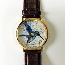 vintage bird watch vintage style leather watch vintage map print vintage bird watch vintage style leather watch vintage map print women watches
