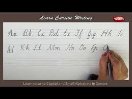 Capital And Lowercase Cursive Letters Chart Cursive Writing Writing Capital And Small Alphabets In
