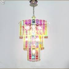 multi colored crystal chandelier gold