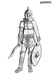 Kids N Fun Kleurplaat Romeinse Tijd Een Gladiator