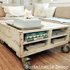 how to make a coffee table from a pallet sustainable decor upcycled pallet coffee table coffee