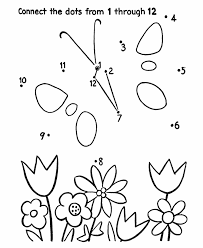 Small Picture Dot to Dot Coloring Activity Pages Kids Butterfly and flowers