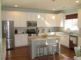 Kitchen Crown Molding Contemporary Kitchen With Hardwood Floors Pendant Light In