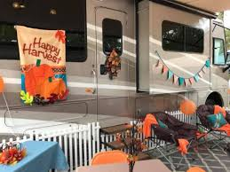 Most popular rv camper van decorating ideas Remodel Outside Camper Decorating Ideas For Thanksgiving By Linda Pounds Dobson Rv Inspiration Rv Decorating Ideas For Fall Camping Rv Inspiration