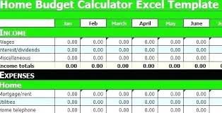 Monthly Expenses Calculator Monthly Budget Calculator Excel Ferero Club