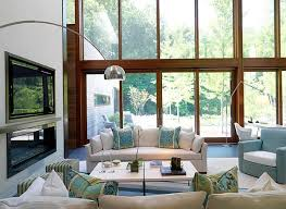 airy living room modern