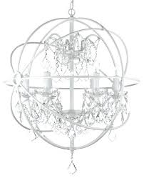 white orb chandelier white wrought iron orb crystal chandelier fixture pendant