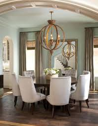 image of rustic dining room chandeliers