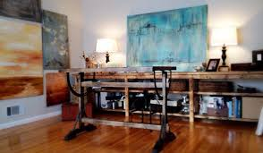 modern rustic office. Art Studio / Office-- Rustic Modern Rustic-home-office Office L