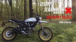 2017 ducati scrambler desert sled review youtube