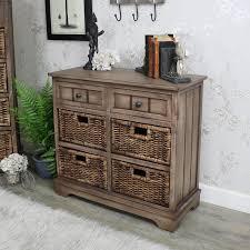 dorchester range wooden 2 drawer 4 basket storage unit