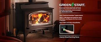 insert liberty wood burning stove with greenstart ignition