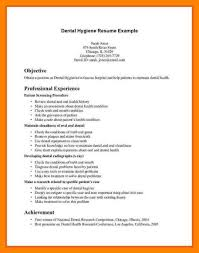 8 Dental Hygiene Resume Sample Biodate Format