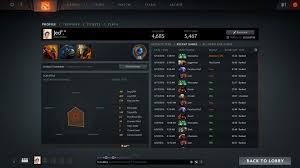 selling dota 2 account 4685 solo 5467 party playerup accounts