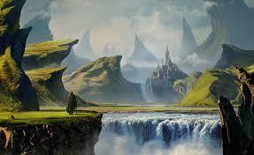 landscape, mountains, digital art ...