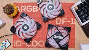 <b>ID</b>-<b>Cooling</b> DF-<b>12025</b>-ARGB VS <b>RGB Trio</b> Case Fans - YouTube