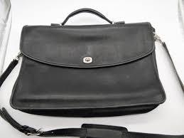 coach leather portfolio briefcase