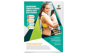 Fitness Flyer Template Fitness Trainer Flyer Template Design ...