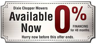 dixie chopper logo. 0% financing for 48 months on dixie chopper mowers logo
