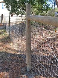 2x4 welded wire fence.  Wire Woven Wire Stretched Between Wood Corner Bracing And Tied To Metal Tpost  Along The Inside 2x4 Welded Wire Fence