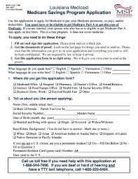 Texas Medicare Savings Program Application - Fill Online, Printable ...