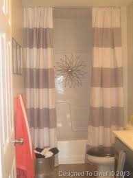 teal striped shower curtain. striped shower curtain/ neutral bathroom/ kids bathroom ideas/ boy \u0026 girl double curtain but in teal k